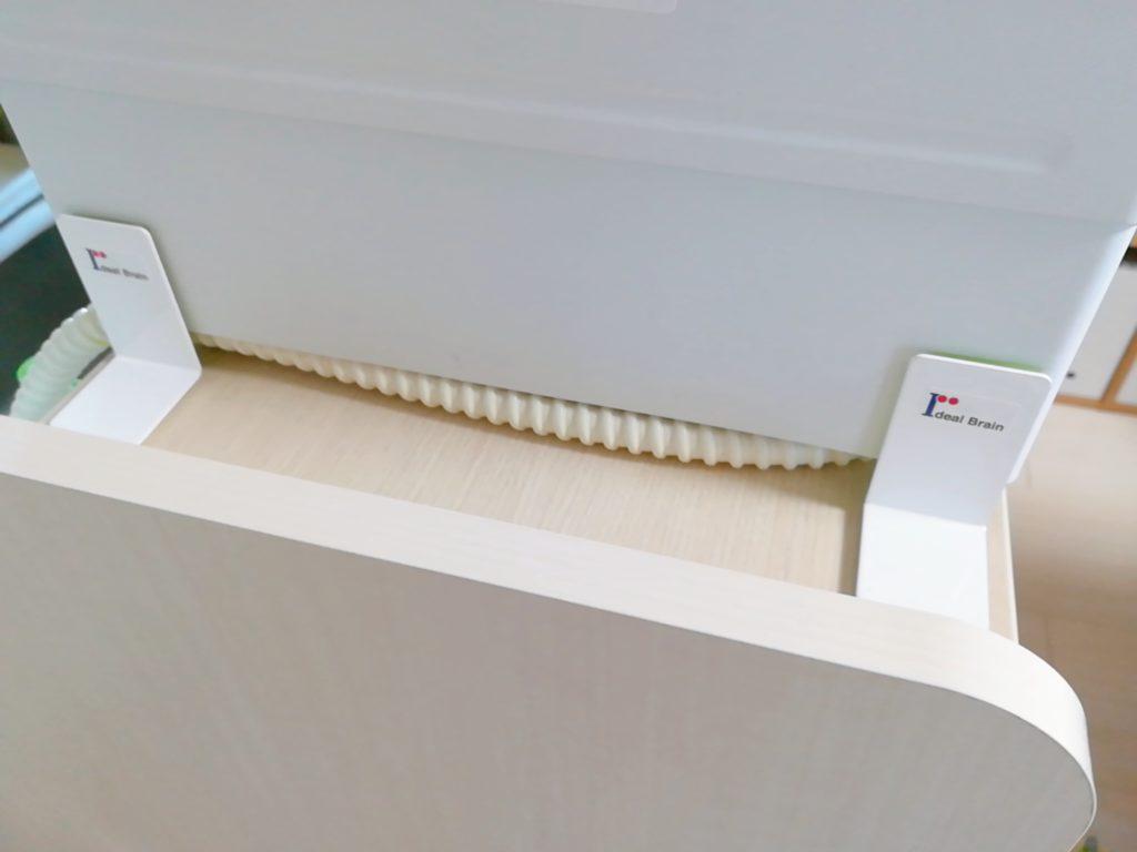 食洗機の耐震対策にガムロックPCを設置した図