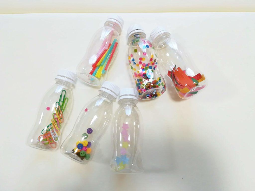 完成した6種類のセンサリーボトル