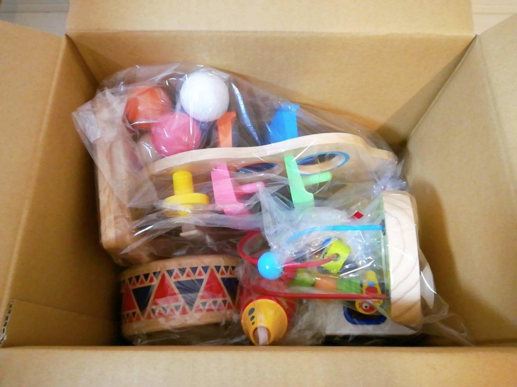 おもちゃレンタルサービス「TOYBOX(トイボックス)」から届いたおもちゃ