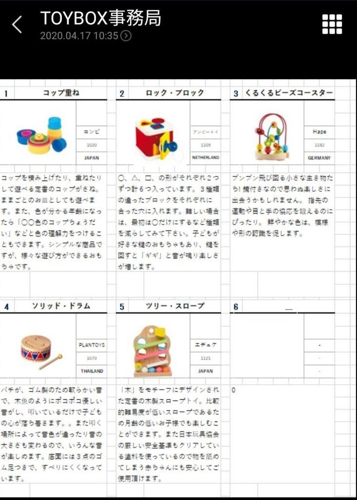 知育玩具・おもちゃのサブスクリプション型レンタルサービス「TOYBOX」から届いた初回のレンタルおもちゃプラン