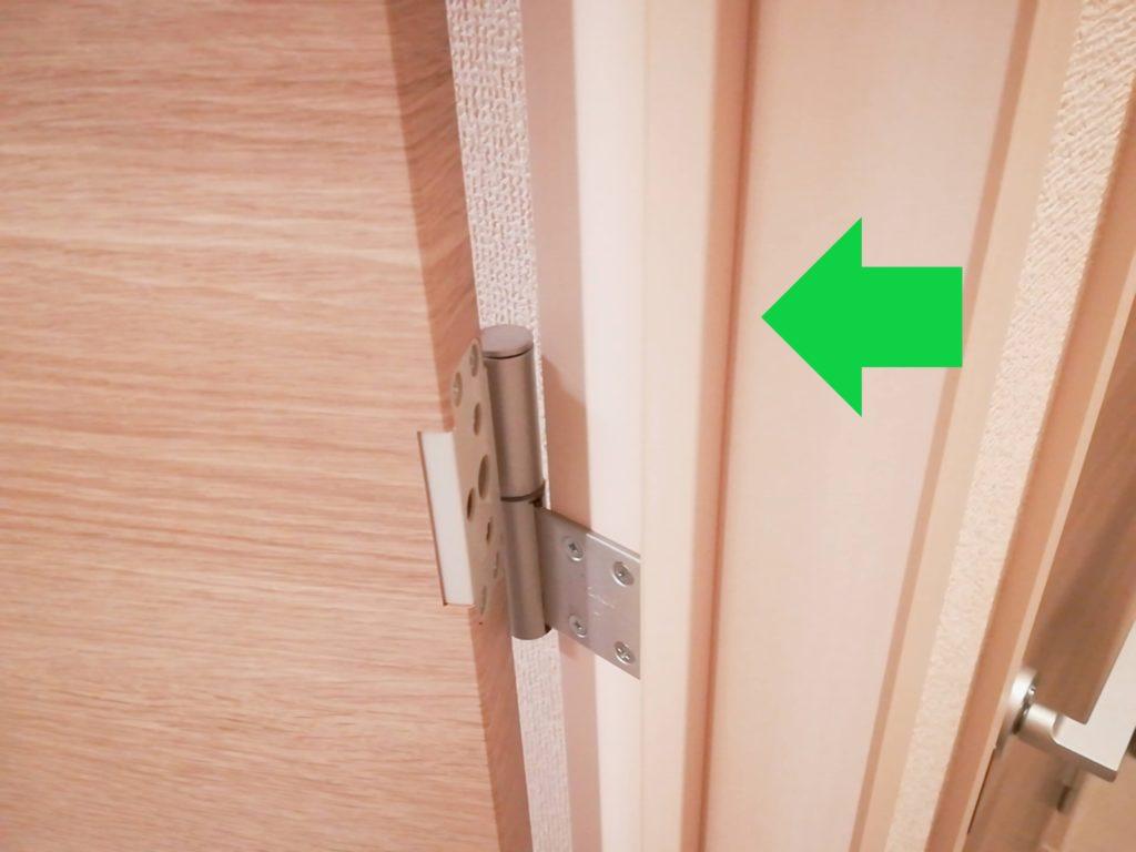 指はさみ防止グッズ「はさマンモス」を取り付け予定のドア