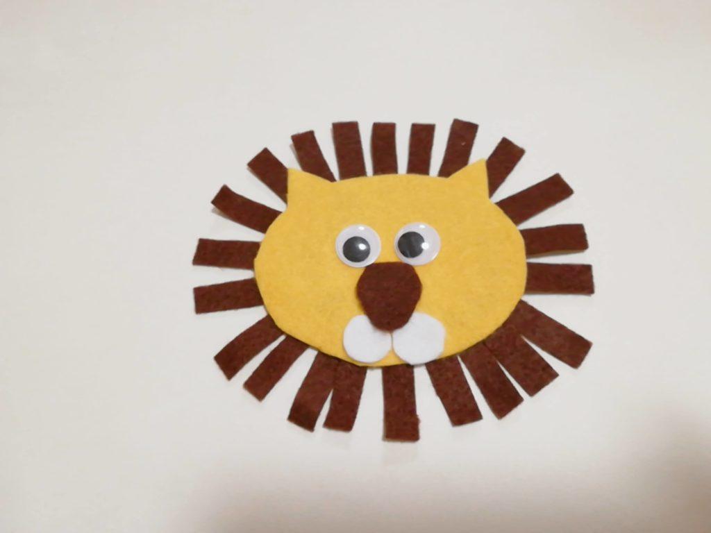 センサリーボードの「ライオン」パーツ