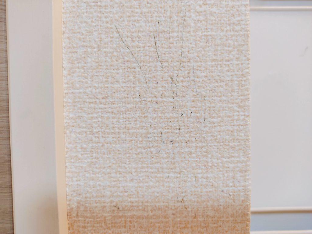 ガンジー(ガンヂー)インキ消を使って、壁紙に描かれたボールペンの落書きを消してみた