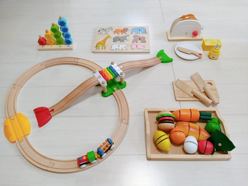 1歳7ヶ月娘にTOYBOXからレンタルしたおもちゃ・知育玩具