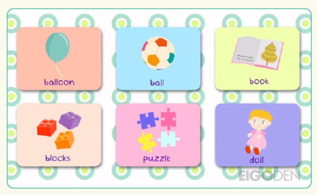 グーミーズ(Goomies)でフラッシュカード形式に流れる英単語
