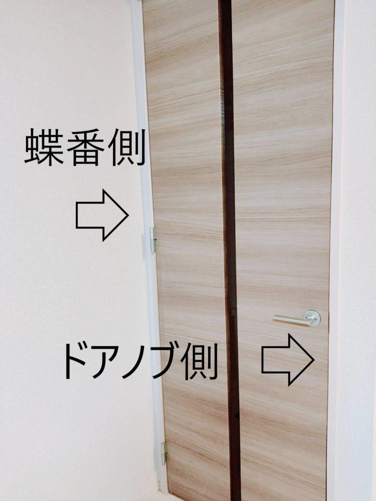 子供の指はさみ事故が起こりやすいのは、ドアの「蝶番側」と「ドアノブ側」