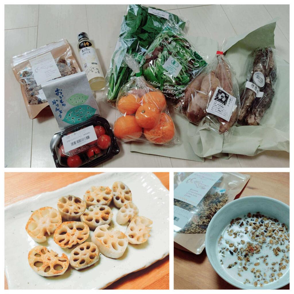 食材宅配「ココノミ」で2回目以降に注文した野菜とオーガニック食材の加工品