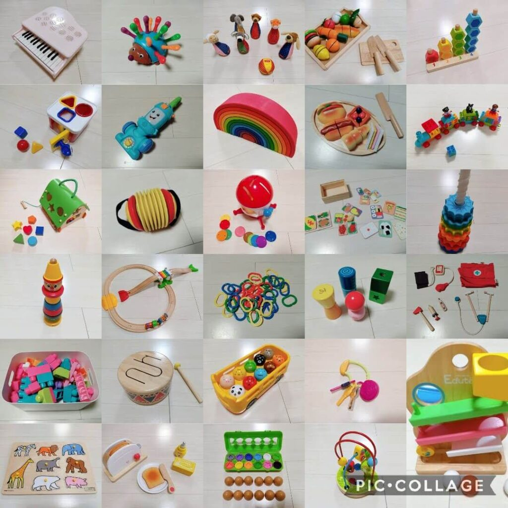 おもちゃのサブスク(定額制レンタルサービス)で1年間にレンタルしたおもちゃ・知育玩具