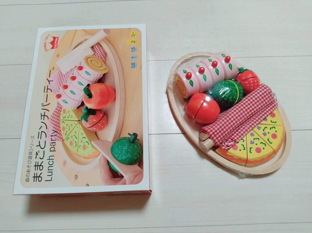 おもちゃのサブスクから届いた新品おもちゃ